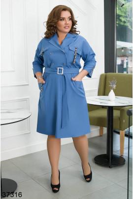 Гламурне плаття джинсового кольору для повних жінок