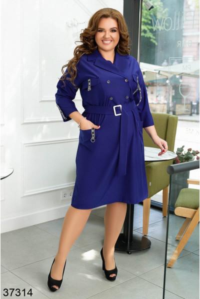 Лаконічне плаття кольору індиго