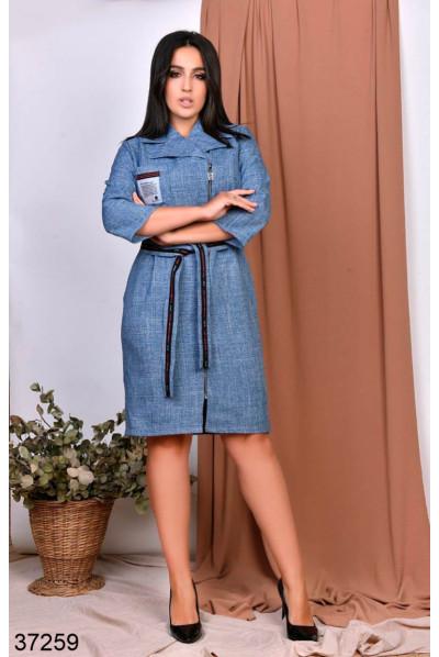 Модне платя джинсового кольору для повних жінок