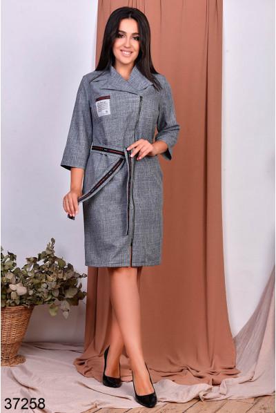 Сіре жіночне плаття для жінок з пишними формами