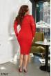 Червоне розкішне гіпюрове плаття
