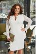 Біле розкішне плаття міді для жінок з апетитними формами