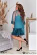 Ментолове ошатне плаття міні великих розмірів