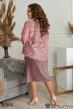 Рожеве романтичне просторе плаття для повних жінок