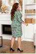 Універсальне плаття кольору хакі з принтом для повних жінок