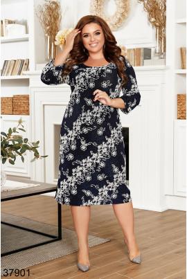Синє розкішне жіноче плаття великих розмірів