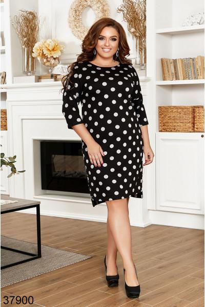 Чорне вишукане жіноче плаття великих розмірів