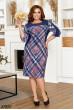 Синє затишне принтоване плаття для повних жінок