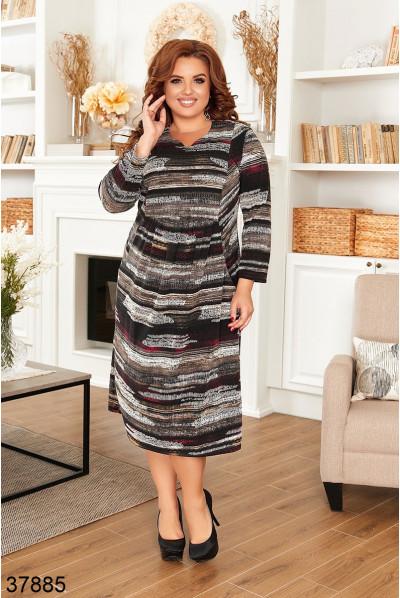 Сіре повсякденне жіноче плаття великих розмірів