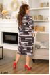 Коричневе зручне трикотажне плаття для повних жінок