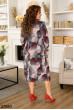 Коричневе жіноче плаття міді на кожен день