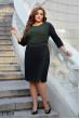 Чорно-зелене трикотажне плаття для повних жінок