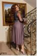 Бежево-чорне вечірнє плаття з паєтками для жінок з пишними формами