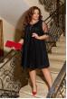 Чорне просторе ошатне плаття з люрексу