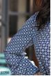 Синє принтоване жіноче плаття міді