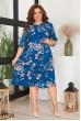 Ніжне принтоване плаття морскої хвилі для жінок з апетитними формами