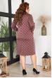 Жіночне плаття цегляного кольору в горох