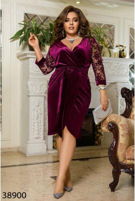 Шикарне велюрове плаття для святкової події