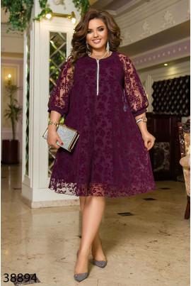 Бордове двошарове плаття а-силуету