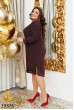 Бордове розкішне плаття для повних жінок
