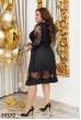 Чорне ніжне єфектне плаття з ажуром