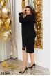 Чорне дивовижне плаття міді для жінок з пишними формами