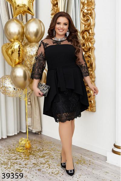 Чорне вечірнє розкішне плаття з вишивкою