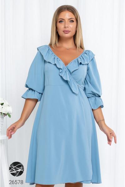 Блакитне заворожуюче плаття на запах