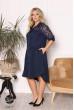 Синє жіноче універсальне плаття-рубашка на кожен день