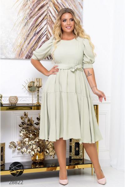 Ментолове миловидне ошатне плаття для повних жінок