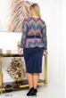 Різнобарвне вишукане плаття великих розмірів