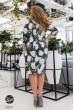 Сіре лаконічне квіткове плаття для повних жінок