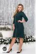 Зелене практичне плаття міді для повних жінок
