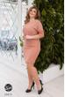 Рожеве повсякденне трикотажне плаття в клітинку