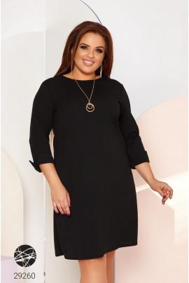 Привабливе плаття великих розмірів чорного кольору