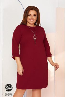 Бордове жіночне вишукане плаття великих розмірів