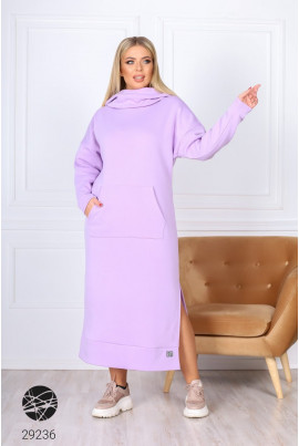 Бузкове оригінальне плаття на флісі на кожен день