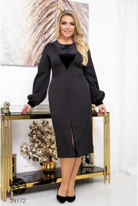 Чорне неймовірне плаття великих розмірів