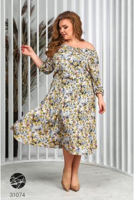 Жовта оригінальна неймовірно жіночна сукня
