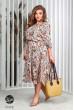 Помаранчеве барвисте плаття міді зі штапеля