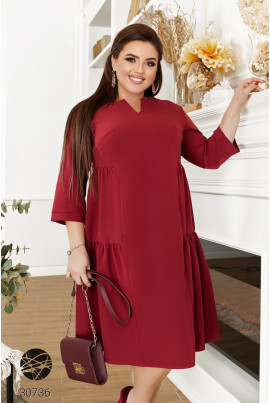 Бордова простора актуальна сукня великих розмірів