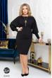 Чорне базове жіноче плаття для жінок з апетитними формами