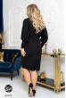 Чорна облягяюча сукя-футляр для жінок з пишними формами