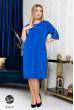 Розкішна яскрава сукня кольору електрик