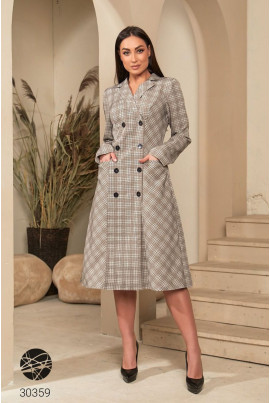 Бежеве стилене жіноче плаття-блейзер великих розмірів