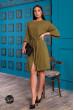 Жіноча однотонна сукня кольору хакі