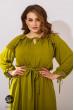 Оливкова дивовижна сукня міді для жінок з пишними формами