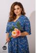 Синє практичне плаття міді для жінок з апетитними формами