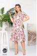 Рожева ніжна вражаюча сукня з квітковим принтом