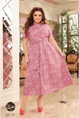 Рожева грайлива повсякденна сукня-сорочка з принтом